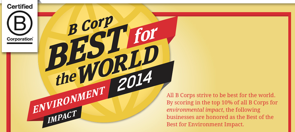 BEST Coaches Client Ecologic Solutions Named  Best for the World 2014